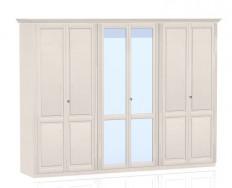 Jitona Ole šatní skříň, 6 dveří, 2 zrcadla