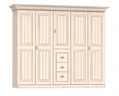 Jitona Malta šatní skříň, 5 dveří, 3 zásuvky
