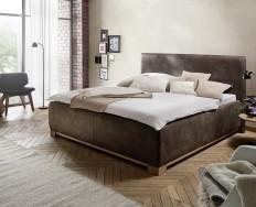 Angers tmavěhnědá postel s úložným prostorem
