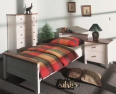 Gazel postel Anny 90 bílo-hnědá