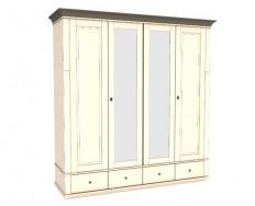 Jitona Georgia šatní skříň, 4 dveře, 4 zásuvky, 2 zrcadla