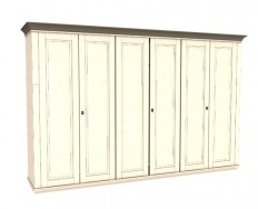 Jitona Georgia šatní skříň, 6 dveří