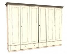 Jitona Georgia šatní skříň, 6 dveří, 6 zásuvek