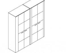 Jitona Keros šatní skříň, 4 dveře