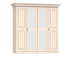 Jitona Malta šatní skříň, 4 dveře, 2 zrcadla