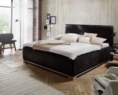 Angers černá postel s úložným prostorem