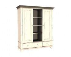 Jitona Georgia šatní skříň, 2 dveře, 3 zásuvky, niky