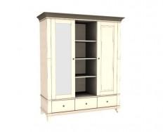Jitona Georgia šatní skříň, 2 dveře, 3 zásuvky, niky, zrcadlo vlevo