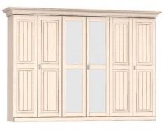 Jitona Malta šatní skříň, 6 dveří, 2 zrcadla