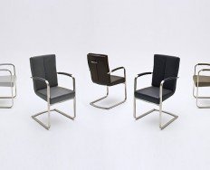 MILAN židle odpružená podnož s područkami