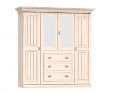 Jitona Malta šatní skříň, 4 dveře, 3 zásuvky, 2 zrcadla