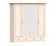Jitona Country Inn šatní skříň, 4 dveře, 2 zásuvky, 2 zrcadla