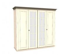 Jitona Georgia šatní skříň, 4 dveře, 2 zrcadla spříčkami