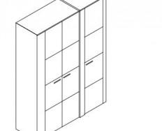 Jitona Keros šatní skříň, 3 dveře