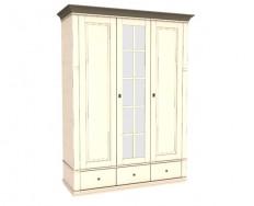 Jitona Georgia šatní skříň, 3 dveře, 3 zásuvky, 1 zrcadlo