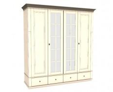 Jitona Georgia šatní skříň, 4 dveře, 4 zásuvky, 2 zrcadla spříčkami