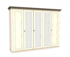 Jitona Georgia šatní skříň, 5 dveří, 3 zrcadla