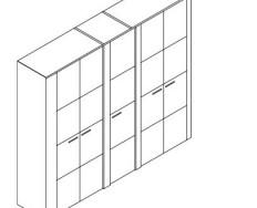 Jitona Keros šatní skříň, 5 dveří