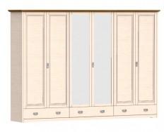 Jitona Country Inn šatní skříň, 6 dveří, 3 zásuvky, 2 zrcadla