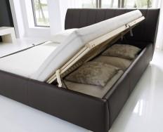 Anglet hnědá  postel s úložným prostorem
