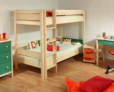 Gazel Keyly patrová postel přírodní + Akce