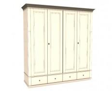 Jitona Georgia šatní skříň, 4 dveře, 4 zásuvky