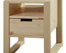 Gazel Rhino noční stolek - A - přírodní / lak + Akce