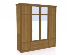 Jitona Piano šatní skříň, 4 dveře, 2 zásuvky, 2 zrcadla