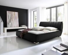 Anglet černá postel s úložným prostorem