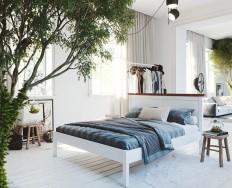 Gazel Lagga 180 bílo hnědá postel + Akce