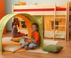 Gazel Sendy dětská patrová postel nízká smrk