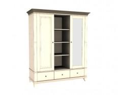 Jitona Georgia šatní skříň, 2 dveře, 3 zásuvky, niky, zrcadlo vpravo