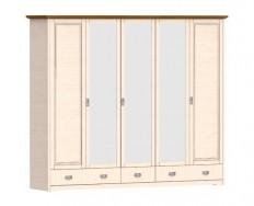 Jitona Country Inn šatní skříň, 5 dveří, 3 zásuvky, 3 zrcadla
