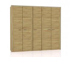 Jitona Keros šatní skříň, 5 dveří, sřímsou alezénami