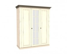 Jitona Georgia šatní skříň, 3 dveře, 1 zrcadlo