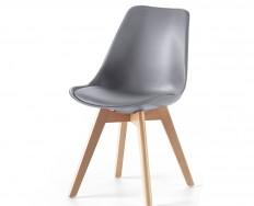 Pisa židle šedá na 4 nohách zpevněné lubem