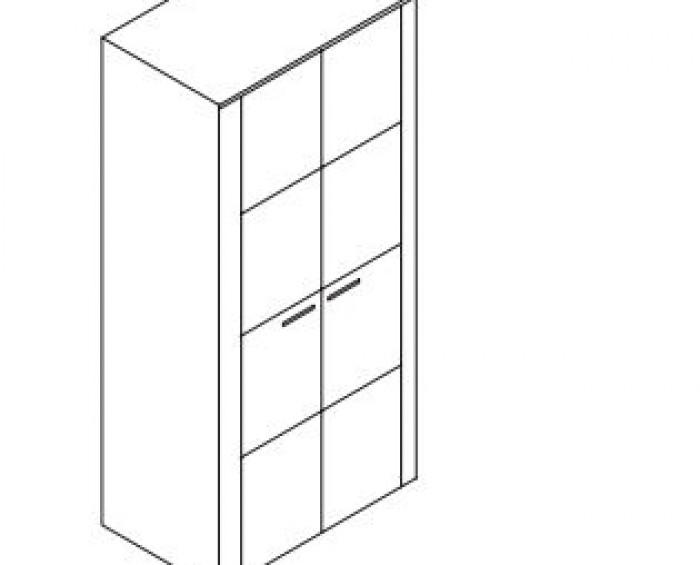 Jitona Keros šatní skříň, 2 dveře