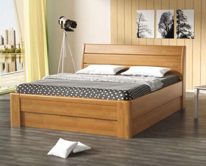 Vykona masivní buková postel Vanda výklop s úložným prostorem