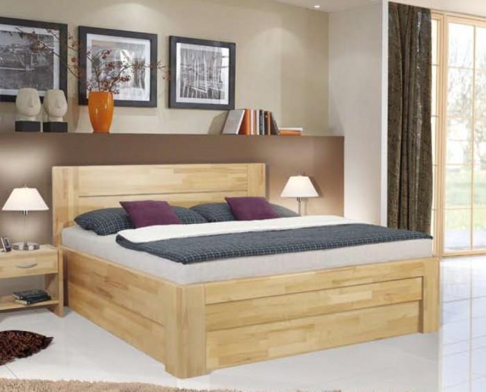 Vykona masivní buková postel Rita s úložným prostorem