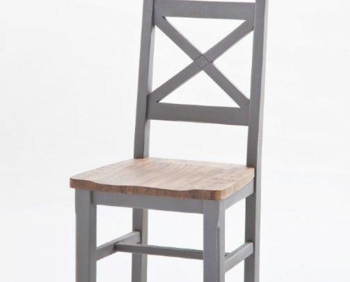 Nice židle antik šedá