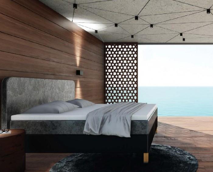 Slumberland Bedford čalouněná postel s úložným prostorem