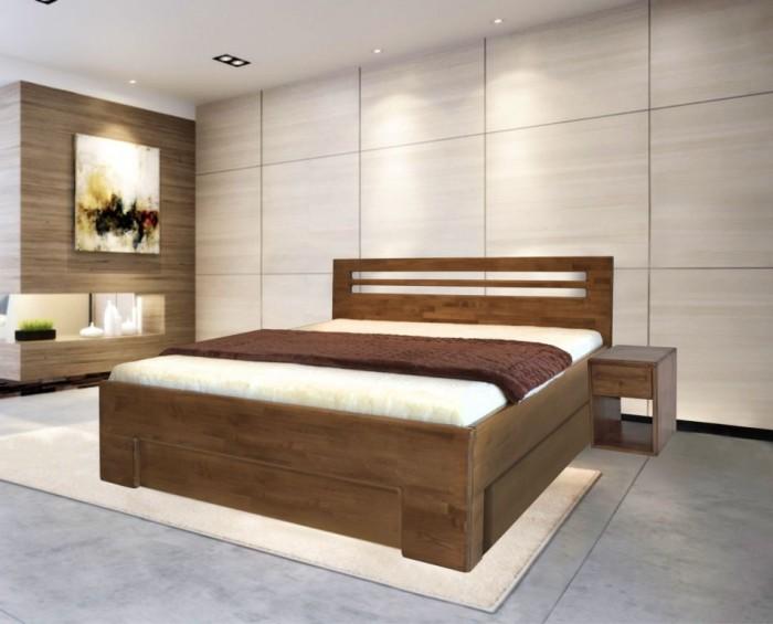 Nota Bene postel s úložným prostorem z bukového masivu
