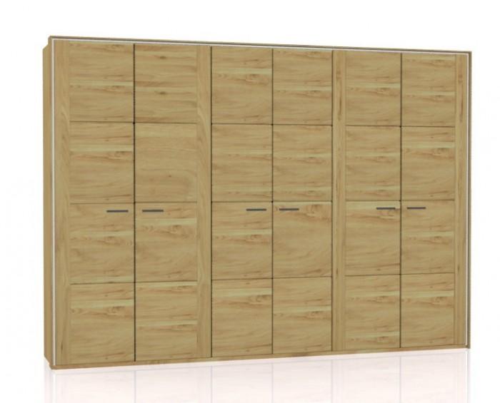 Jitona Keros šatní skříň, 6 dveří, s římsou a lezénami