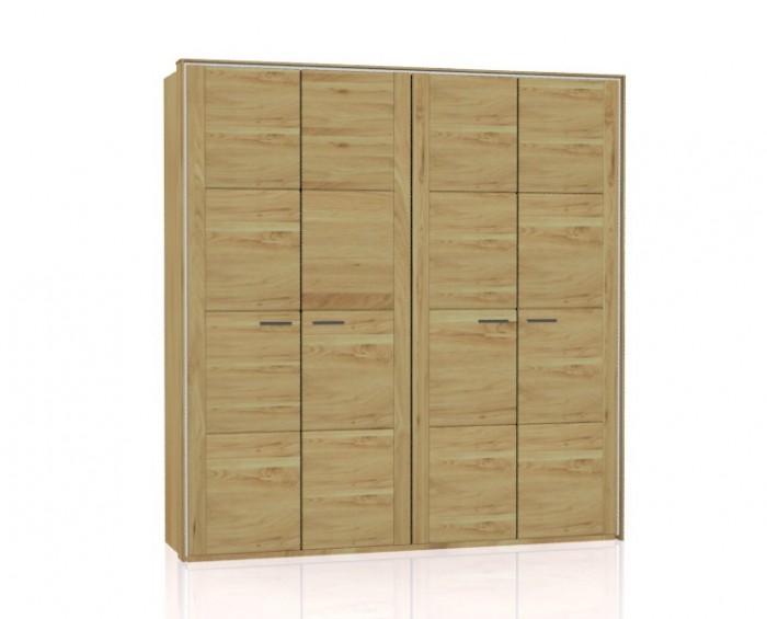 Jitona Keros šatní skříň, 4 dveře, s římsou a lezénami