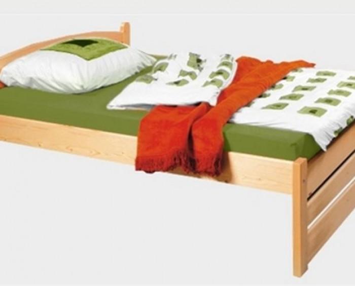 Vysoká postel z masivu Thorsten 90 Nízké čelo Senior - Nábytek PANDA Děčín