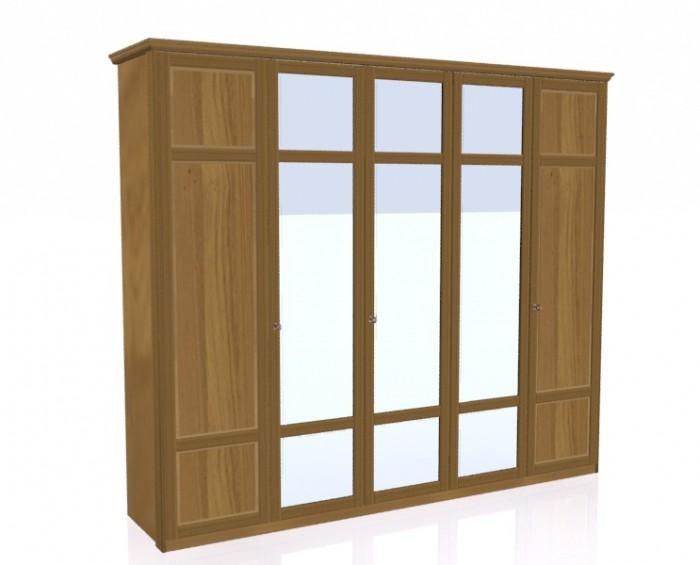 Jitona Piano šatní skříň, 5 dveří, 3 zrcadla