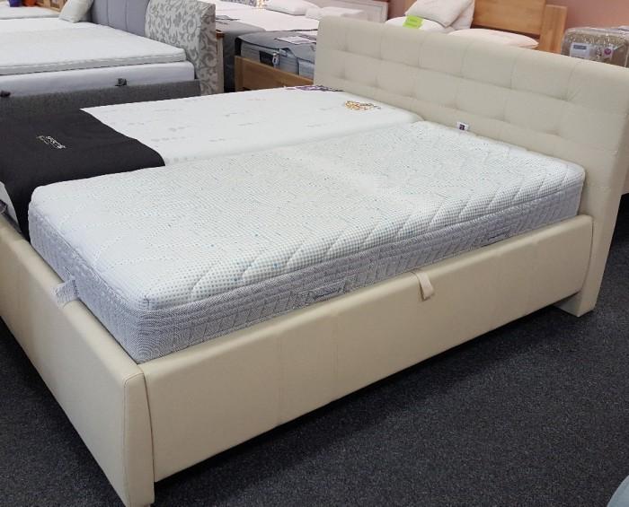Agen čalouněná postel s úložným prostorem 180 x 200 cm VÝPRODEJ z výstavní plochy