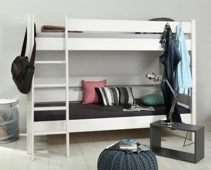Gazel palanda etážová postel Sendy výška 155 cm - BÍLÁ