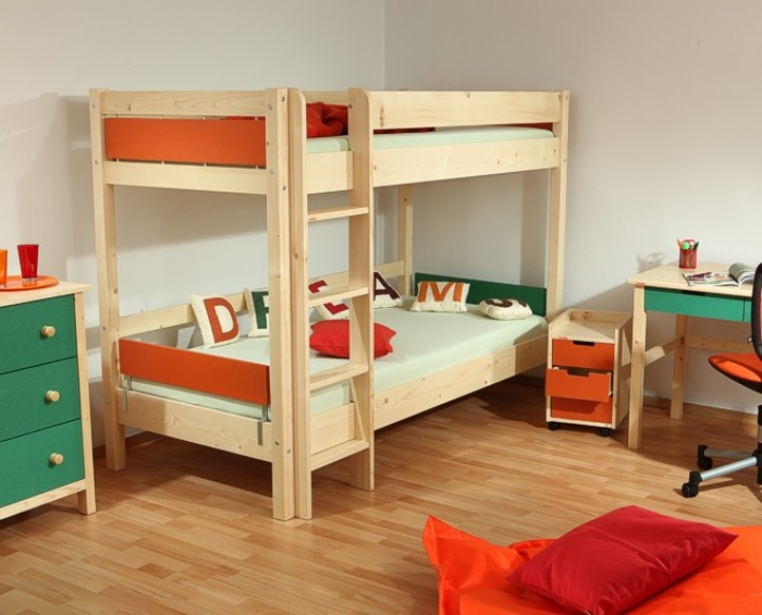 Etážová postel KEYLY NATIVE B0384 Gazel oranžová
