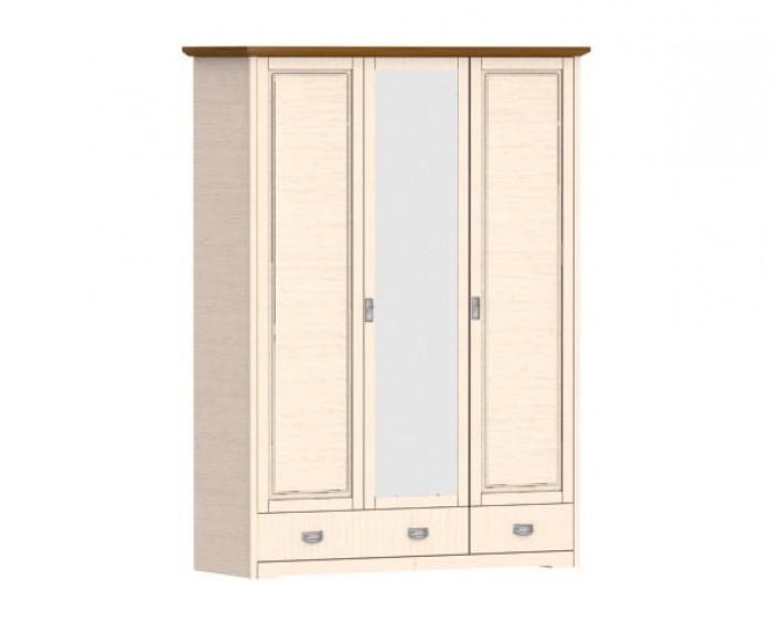 Jitona Country Inn šatní skříň, 3 dveře, 2 zásuvky, 1 zrcadlo